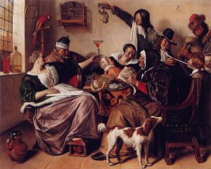 """The Way You Hear It Is the Way You Sing It"", by Jan Steen, c.1665"